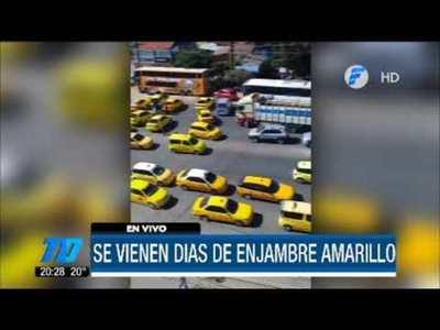 Taxistas de Asunción anuncian movilizaciones