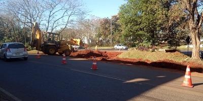 Avanzan obras para desvíos en el km 7