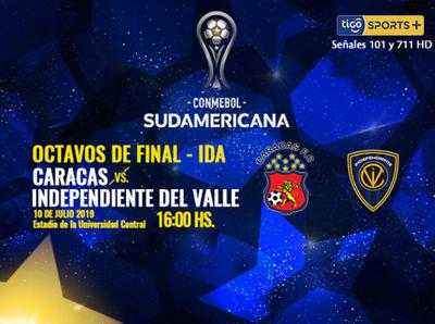 Caracas e Independiente del Valle abren su serie de octavos
