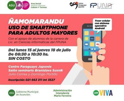Taller de uso de smartphones para adultos mayores en el CPJ