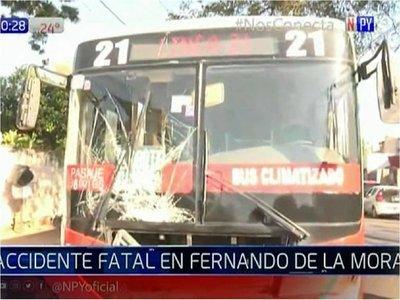 Fatal accidente en Fernando de la Mora