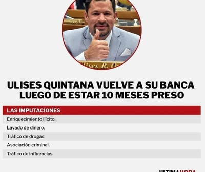 Ulises Quintana vuelve a su banca en Diputados