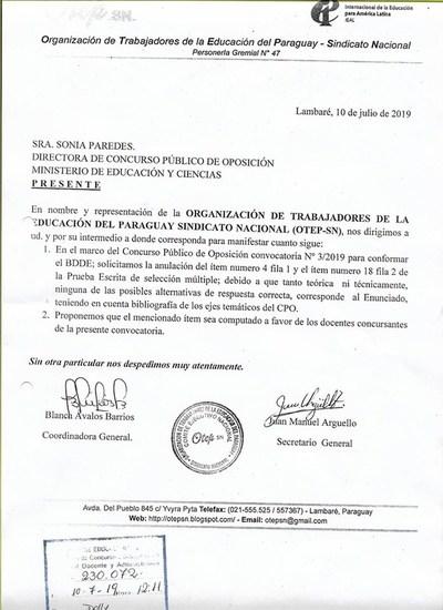 """Gremios rechazan examen del MEC, """"por no reflejar la realidad del docente"""""""