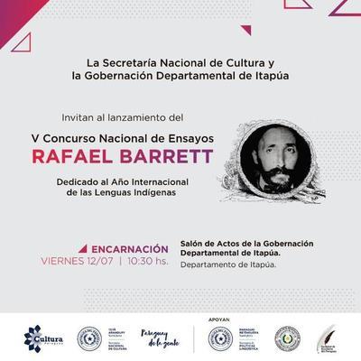 Lanzarán el concurso Rafael Barrett en diferentes departamentos del país