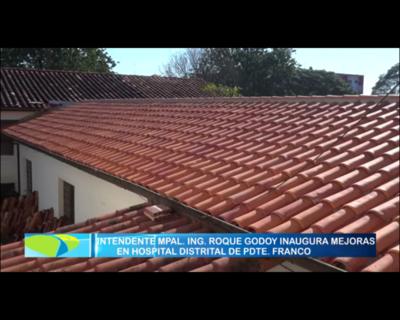 Renuevan techo en hospital de Franco