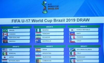Paraguay al Grupo F del Mundial Sub 17