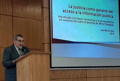 Realizan taller sobre información pública en Villarrica