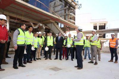 Ministros de la Corte visitan futura sede judicial
