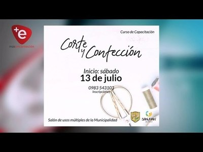 CURSO DE CORTE Y CONFECCIÓN EN SAN JUAN DEL PARANÁ