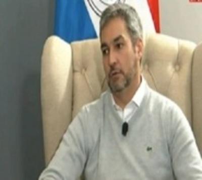 Escracharon al presidente Mario Abdo en la Expo