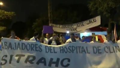 Arrancó huelga en Clínicas con cierres sobre Mariscal López