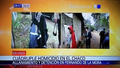 Detienen a sospechosos de cuádruple homicidio en el Chaco