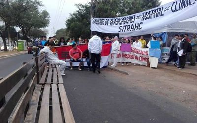 Todos los servicios suspendidos en Clínica por huelga