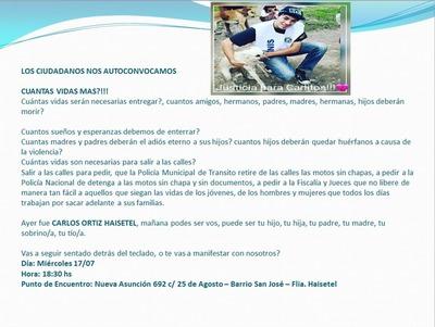 San Lorenzo: Saldrán a pedir que saquen de circulación motos sin chapa