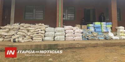 ENTREGARON VÍVERES DE PARTE DEL INDI EN LA COMUNIDAD GUAVIRAMI.