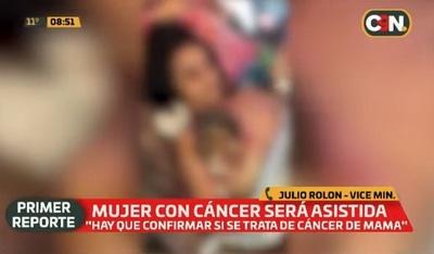 Asisten a mujer con cáncer tras viralización de video
