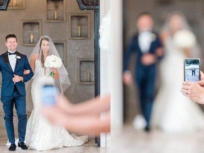 Escrachan a la invitada que fundió la foto de la boda