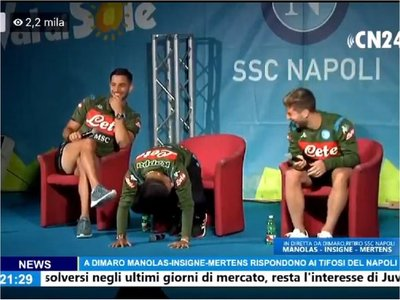 Sensacional broma del técnico Ancelotti a Insigne