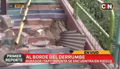Clausuran mirador de Itapytapunta por peligro de derrumbe