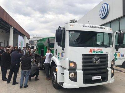 Muni de Asunción compró un camión para bacheo rápido