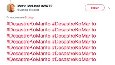 """HOY / Por tuitear """"desastre ko Marito"""" fue sancionada: """"Es un eñecalma"""", dice la castigada"""
