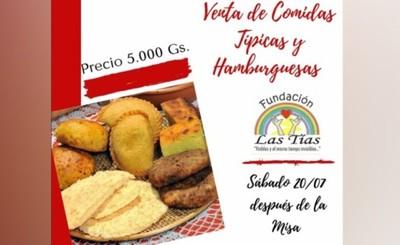 Venta de comidas para cubrir gastos de UTI de bebé del Hogar Las Tías