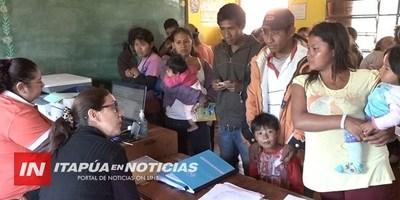 JORNADAS DE EXPEDICIÓN DE DOCUMENTOS A INDÍGENAS SIGUE CON ÉXITO EN ITAPÚA
