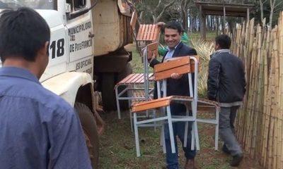 Entregan sillas pedagógicas en escuelas de Paraná Poty
