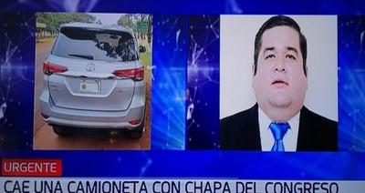 Camioneta robada en Brasil tiene chapa de diputado