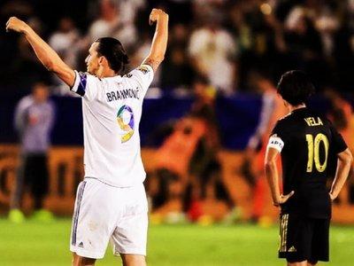 """Ibrahimovic logra """"hat trick"""" y gana duelo goleador a Vela en el clásico L.A"""