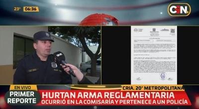 Insólito: Roban arma de policía en una comisaría