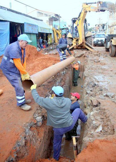 Se inician obras en red cloacal de calle Cañada