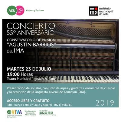 Conservatorio del IMA celebrará este martes su aniversario con concierto gratuito