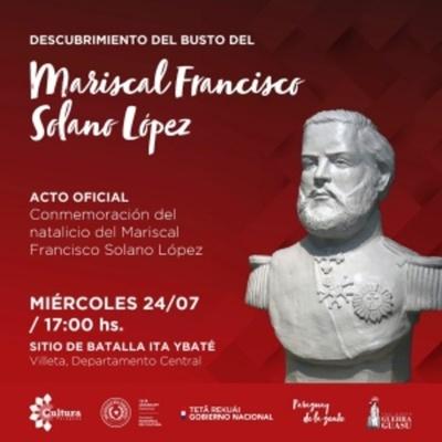 Conmemorarán natalicio del Mariscal López, en Ita Ybaté
