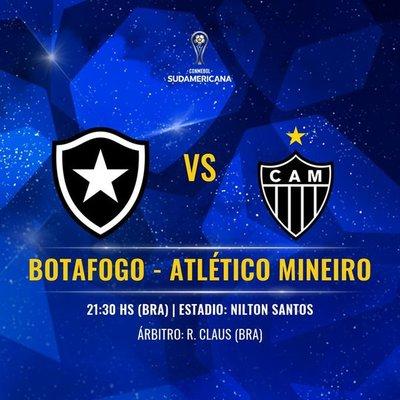Botafogo y Atlético Mineiro en duelo de brasileños en Copa Sudamericana