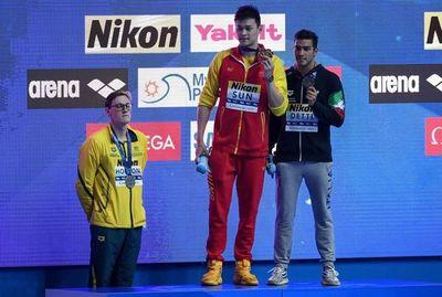 """""""Todo el mundo le aplaudió"""": nadadores apoyan a Horton en su polémica con  Sun Yang"""