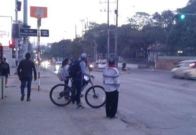 Ciclista prepotente