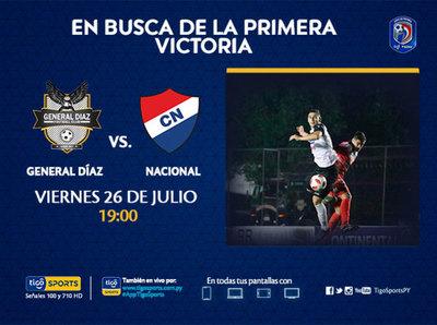 General Díaz y Nacional abren la tercera jornada del Clausura