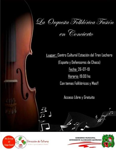 Esta noche habrá concierto en el Centro Cultural Tren Lechero