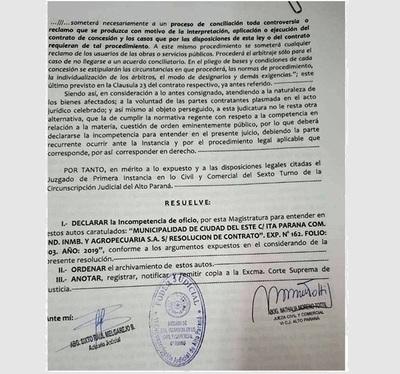 Revés jurídico para intendente Prieto, en caso Terminal de Ómnibus