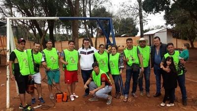 Equipo de Romero Roa, en evento  deportivo con presencia de Romerito