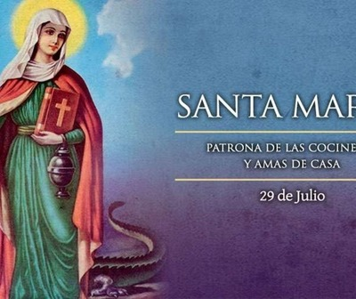 Hoy la Iglesia celebra a Santa Marta, patrona de las cocineras y amas de casa