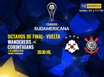 Wanderers busca la remontada ante Corinthians