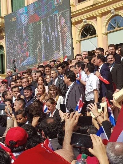 Marito agradeció apoyo y dijo que es momento de trabajar por la paz de la nación