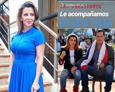 Marly Figueredo manifiesta su apoyo a Marito