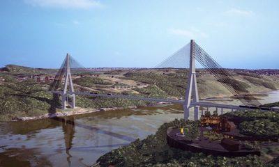 Firman orden de servicio y dan inicio a construcción del Puente de la Integración