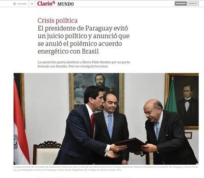 Medios internacionales destacan anulación de acuerdo energético y cese de pedido de juicio político