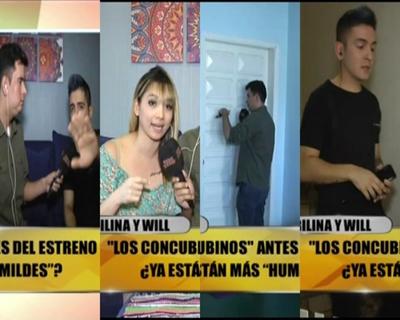 """Escandaloso enlace de Marilina y Will en """"TeleShow"""""""
