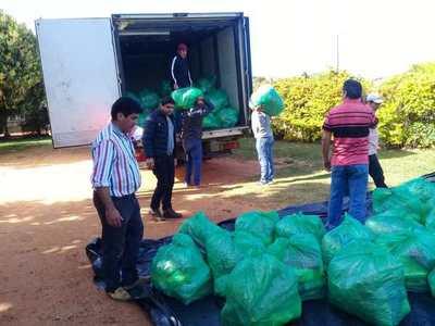 Familias de Misiones recibieron ayuda alimentaria a través de la EBY