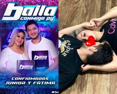 """Romántico ensayo de Junior y Fátima para """"Baila Conmigo Paraguay"""""""